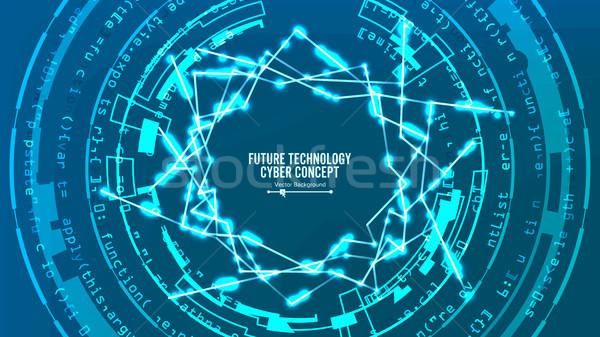 Foto stock: Futurista · tecnología · conexión · estructura · vector · resumen