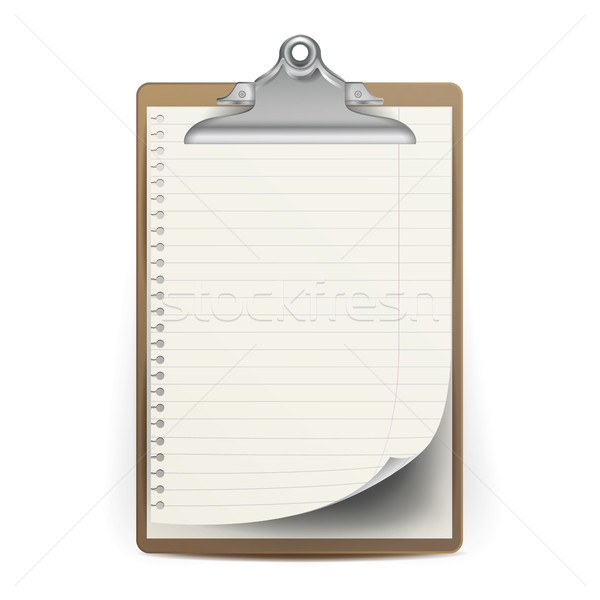 Realistic Clipboard Vector. A4 Size. Top View. Isolated Illustration Stock photo © pikepicture