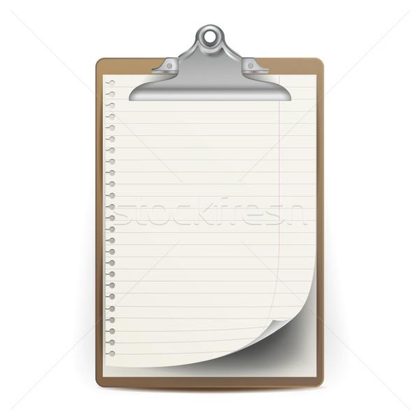 реалистичный буфер обмена вектора размер Top мнение Сток-фото © pikepicture
