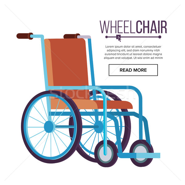 Wheelchair Vector. Classic Transport Chair For Disabled People, Sick, Or Injured, Medical Equipment. Stock photo © pikepicture