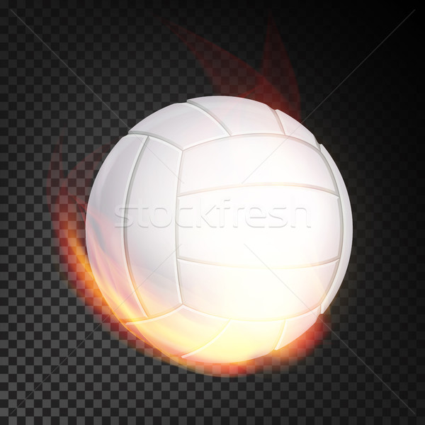 Voleibol bola fogo vetor realista ardente Foto stock © pikepicture
