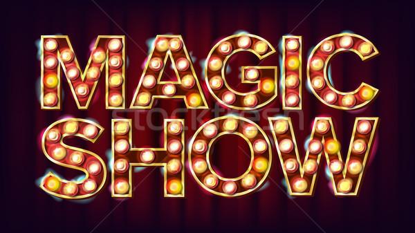 Magic pokaż banner podpisania wektora Zdjęcia stock © pikepicture