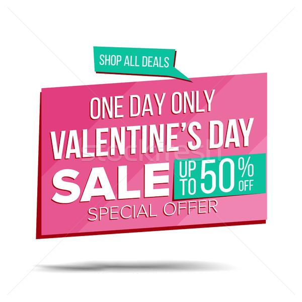 Valentin nap nap vásár szalag vektor árengedmény Stock fotó © pikepicture