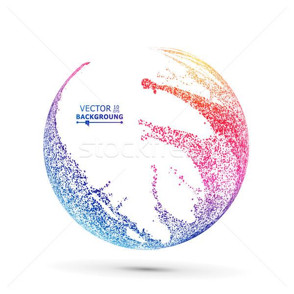 Coloré sphère vecteur pointillé résumé graphiques Photo stock © pikepicture