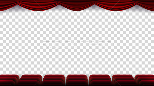 Bioscoop stoelen vector film film theater Stockfoto © pikepicture