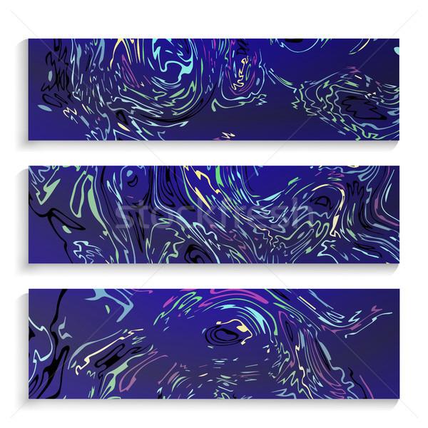 液体 テクスチャ ベクトル セット インク 水彩画 ストックフォト © pikepicture