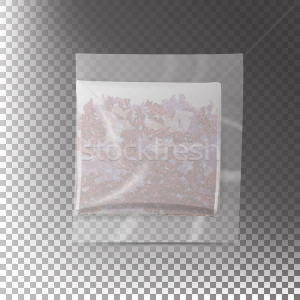 Realistic Tea Bag Teabag. Square Shape. Vector Template Illustration. Transparency Background Stock photo © pikepicture