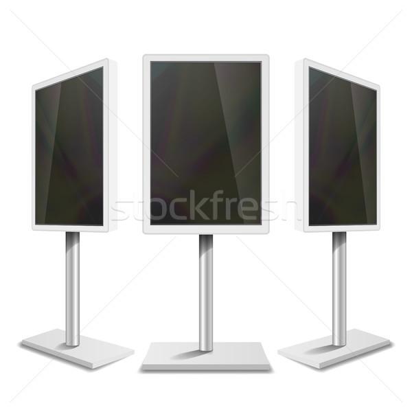 Portable interactive numérique blanche propre Photo stock © pikepicture