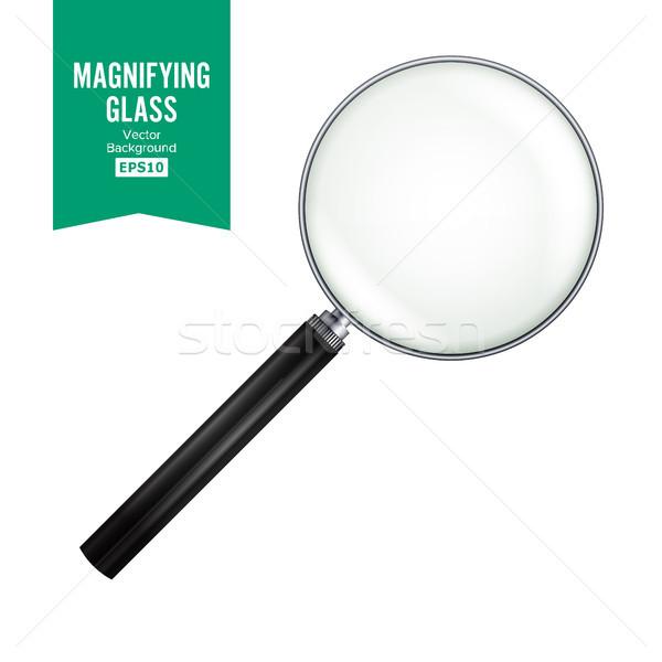 現実的な 虫眼鏡 ベクトル 孤立した 白 勾配 ストックフォト © pikepicture