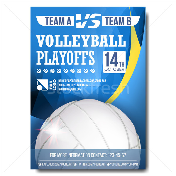 Volleybal poster vector ontwerp sport bar Stockfoto © pikepicture