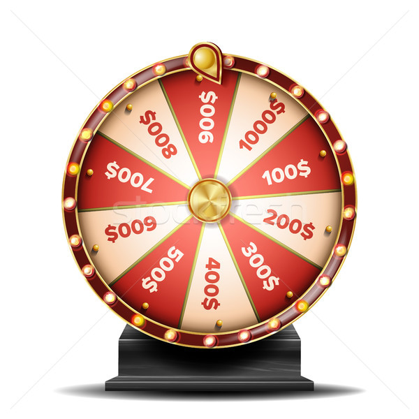 Fortune Wheel Vector. Spinning Lucky Roulette. Lottery Luck. Illustration Stock photo © pikepicture