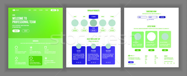 Web pagina ontwerp vector website business Stockfoto © pikepicture