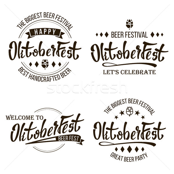Stock photo: Oktoberfest Beer Festival Vector. Celebration Retro Typography Design. Print Template Good For Poste