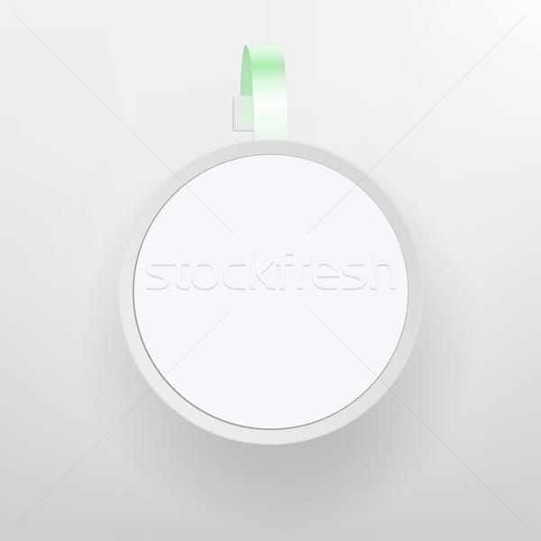 пластиковых реклама вектора белый пусто бумаги Сток-фото © pikepicture