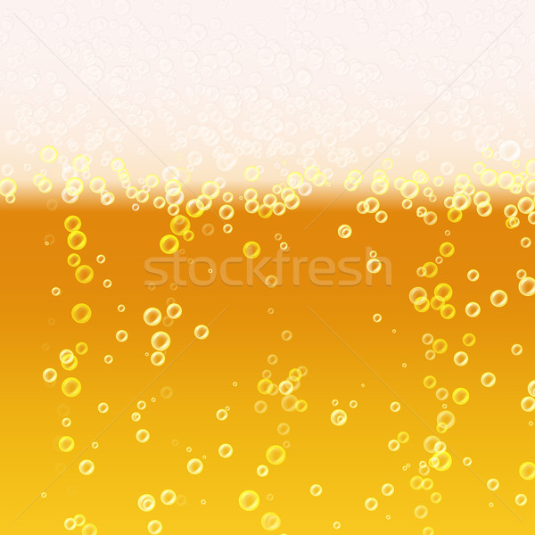 Beer Foam Background. Realistic Beer Texture. Light Bright, Bubble And Liquid. Vector Illustration Stock photo © pikepicture