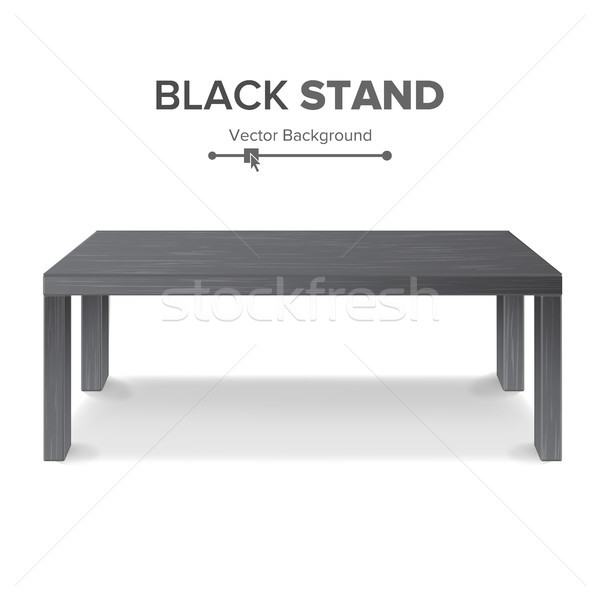 Black Table, Stand Vector. 3D Stand Template For Object Presentation. Realistic Vector Illustration. Stock photo © pikepicture