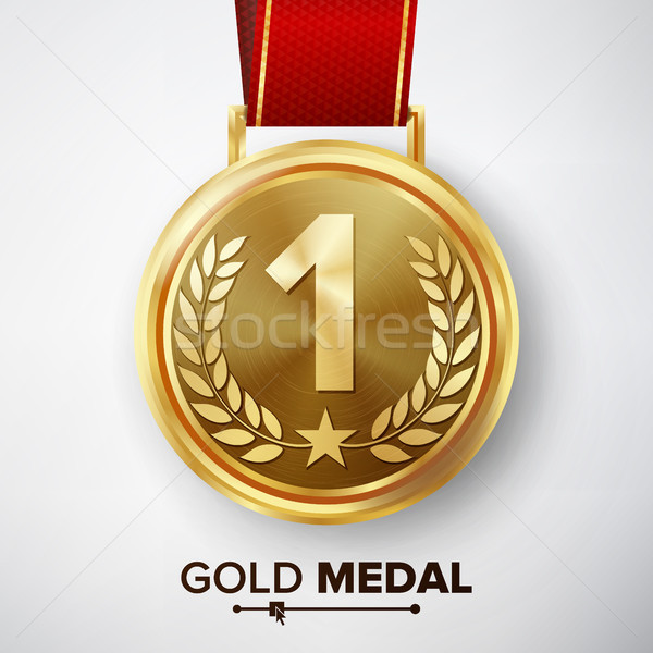 Gold Medal Vector. Stock photo © pikepicture