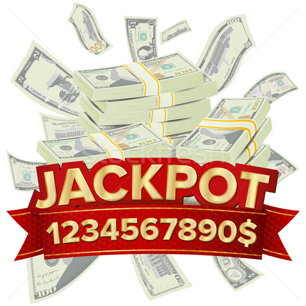 Jackpot Isolated Vector. Golden Casino Treasure. Big Win Banner For Online Casino, Card Games, Poker Stock photo © pikepicture