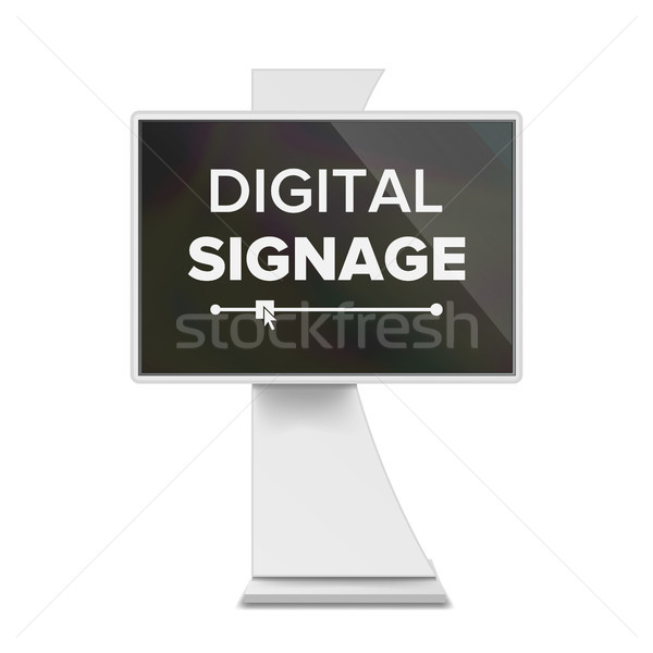Advertising Digital Signage Vector. Advertising Screen Mock Up isolated. LCD Digital Signage For Ind Stock photo © pikepicture