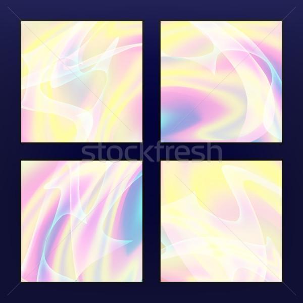 Fluido multicolore vettore pastello neon Foto d'archivio © pikepicture
