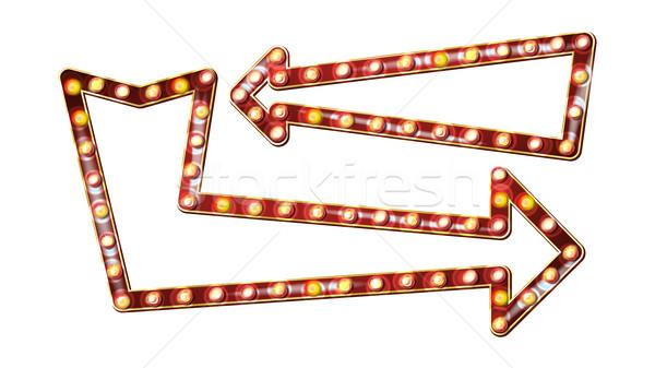 Retro pijlen billboard vector pijl Stockfoto © pikepicture