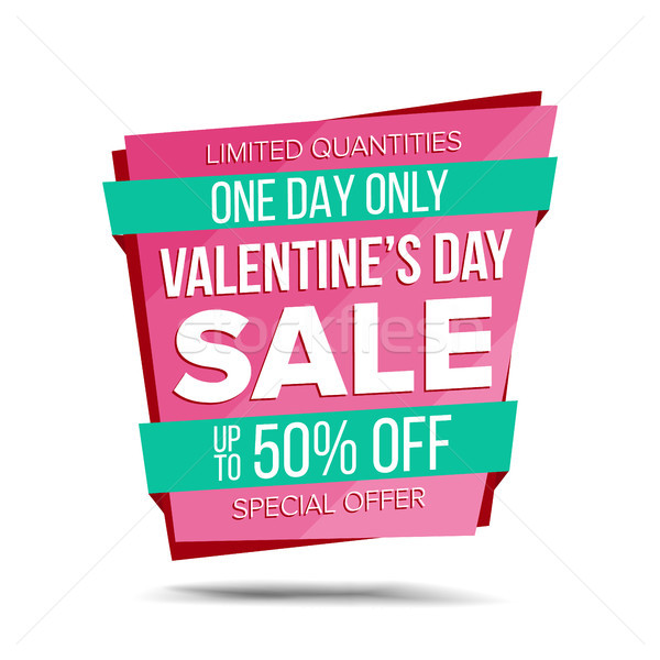 Valentine s Day Sale Banner Vector. Special Offer Sale Banner. February 14 Sale Announcement. Isolat Stock photo © pikepicture