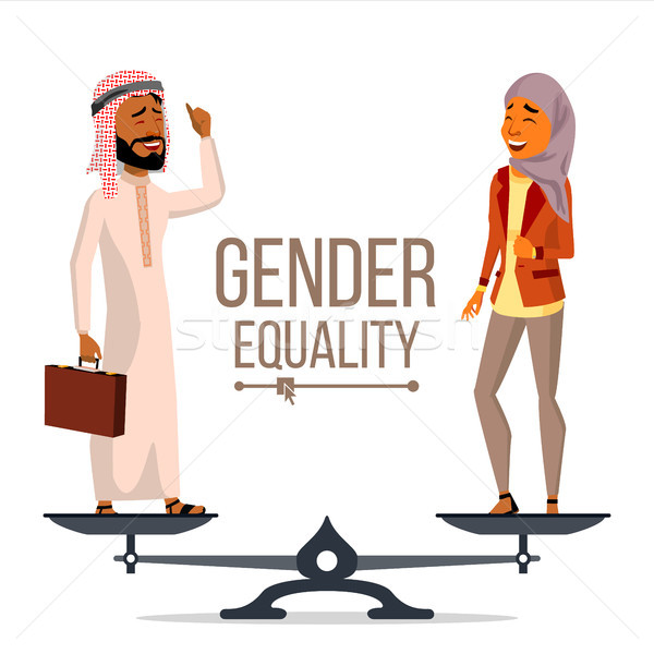 Gender Equality Vector. Businessman, Business Woman. Equal Opportunity, Rights. Male And Female. Sta Stock photo © pikepicture