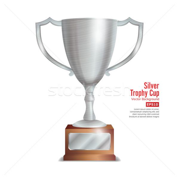 Srebrny trofeum kubek zwycięzca nagrody projektu Zdjęcia stock © pikepicture