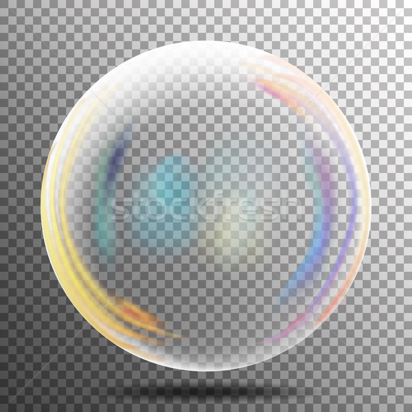 Photo stock: Transparent · bulle · de · savon · vecteur · réaliste · air · bulle