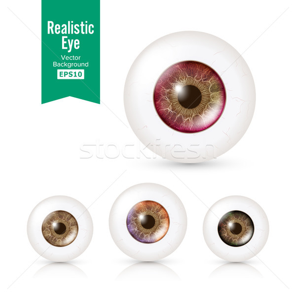 Stock photo: Human Eyeballs Set