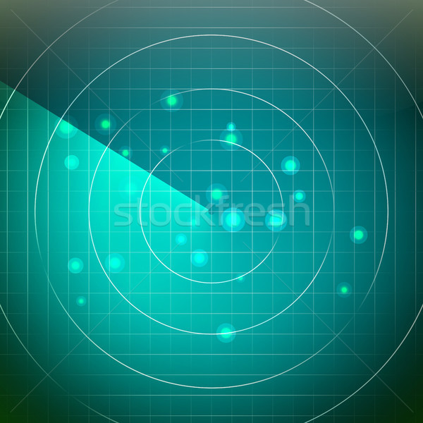 Futuristic Radar Vector. Territory With Smooth Light Beneath. Stock photo © pikepicture
