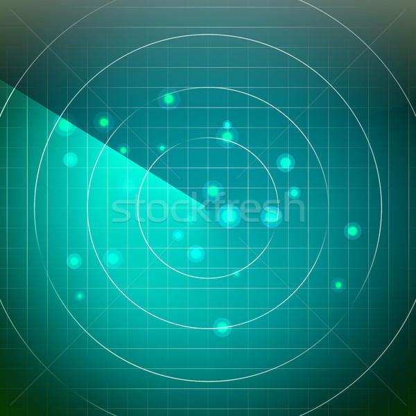 Futuristische radar vector gebied licht abstract Stockfoto © pikepicture