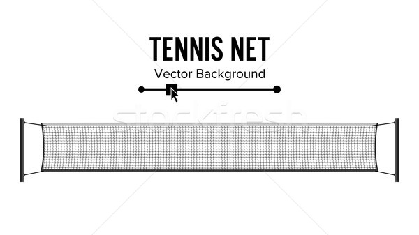 Tennis Net. Realistic Net Used In The Sport Game Of Tennis. Isolated On White. Vector Illustration Stock photo © pikepicture