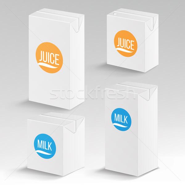 ジュース ミルク パッケージ ベクトル 現実的な アップ ストックフォト © pikepicture