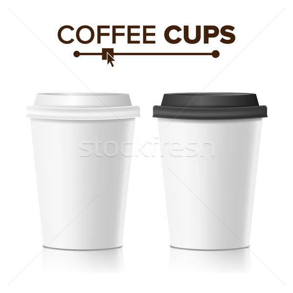 3D café papel copo vetor coleção Foto stock © pikepicture