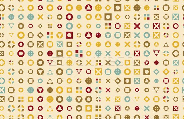 ベクトル パターン 50年代 背景 1950 レトロスタイル ストックフォト © pikepicture