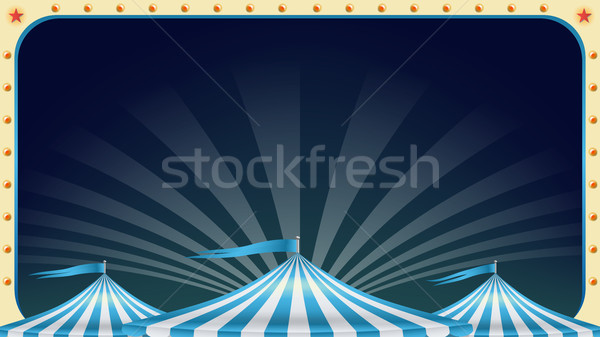 Cirkusz poszter vektor klasszikus mágikus előadás Stock fotó © pikepicture