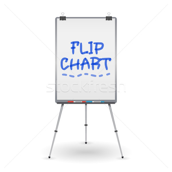 Flip Chart Vector. Office Whiteboard For Business Training. Isolated Illustration Stock photo © pikepicture