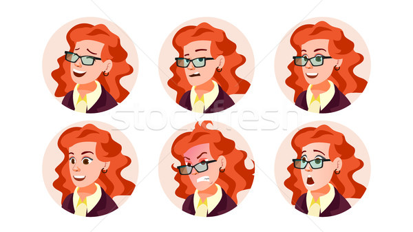 Business Avatar Woman Vector. Icon Placeholder. Casual Workman. Cartoon Character Illustration Stock photo © pikepicture