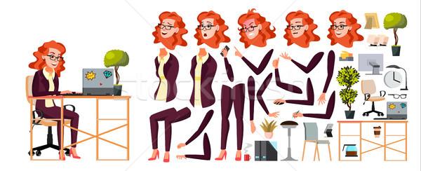 Employé de bureau vecteur femme affaires humaine dame Photo stock © pikepicture