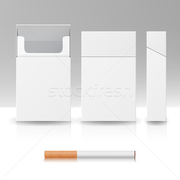 Empacotar pacote caixa cigarros 3D vetor Foto stock © pikepicture