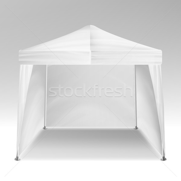 Promotional Tent Vector. Advertising Outdoor Event Trade Show Pop-Up Tent Mobile Advertising Marquee Stock photo © pikepicture