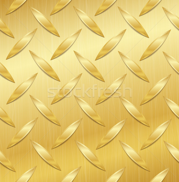 Corrugated Seamless Background. Good For Web Design. Realistic Corrugated Gold Plate Illustration. P Stock photo © pikepicture