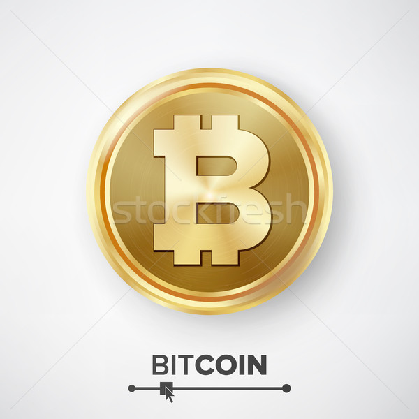 Bitcoin Gold Coin Vector Stock photo © pikepicture