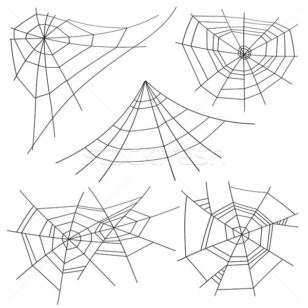 Halloween Spider Web Set Vector. Isolated. For Halloween Design Stock photo © pikepicture
