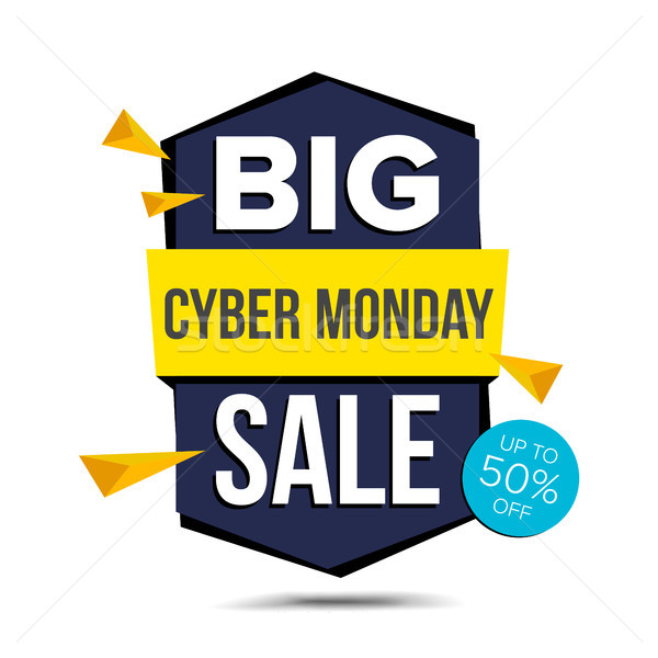 Cyber Monday Sale Banner Vector. Advertising Poster. Discount And Promotion. November Tag And Label  Stock photo © pikepicture
