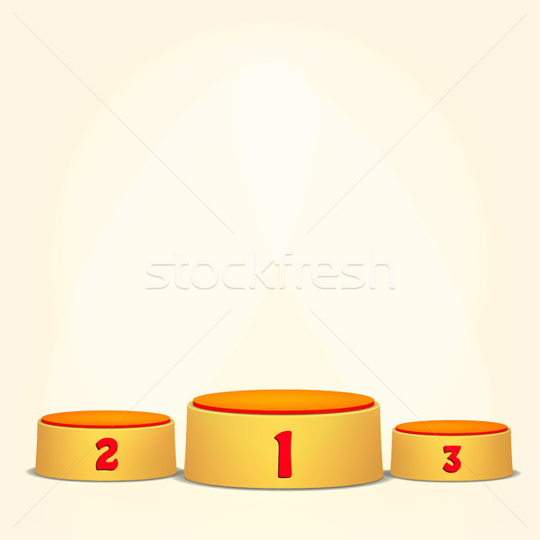 Empty Vector Podium. Round Winners Pedestal Concept With First, Second And Third Place For Award Cer Stock photo © pikepicture