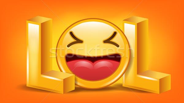 笑 にログイン ベクトル 楽しい シンボル 感情 ストックフォト © pikepicture