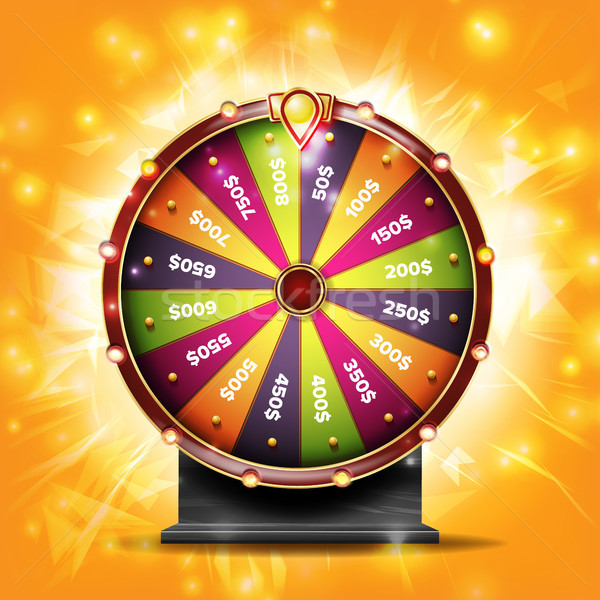Fortune Wheel Banner Vector. Luck Sign. Lottery Luck. Lucky Jackpot Poster Design. Glowing Prize Ill Stock photo © pikepicture