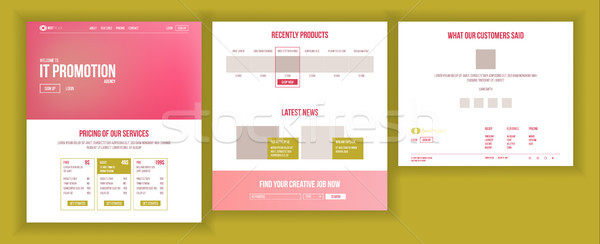 Web Page Design Vector. Website Business Reality. Site Scheme Template. Invest Conference. Planning  Stock photo © pikepicture